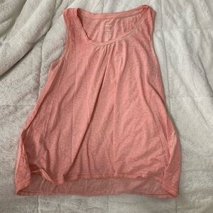 Sun washed pink tank top